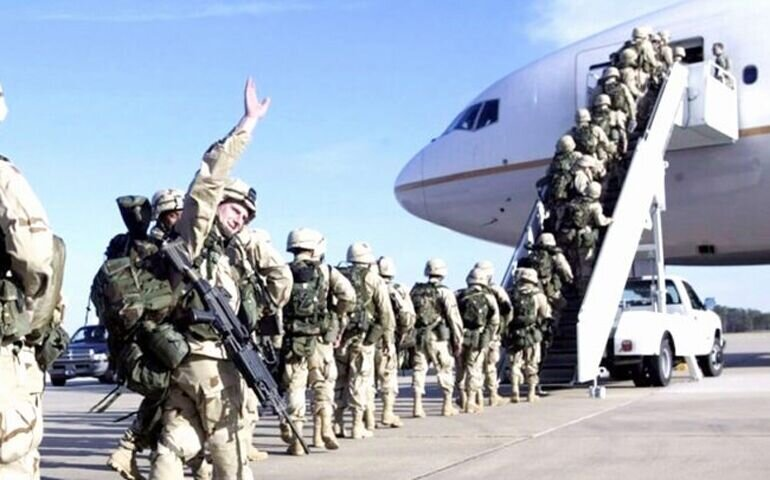 تعلیق فعالیت نظامی ائتلاف آمریکا در عراق