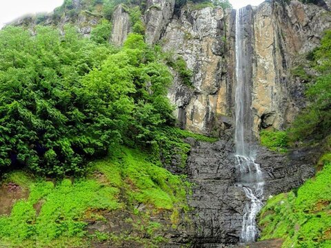 Iran's tallest waterfall