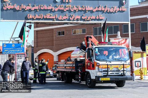 آمادهباش نیروهای آتش نشانی در ایستگاههای ۲۵ گانه شهر