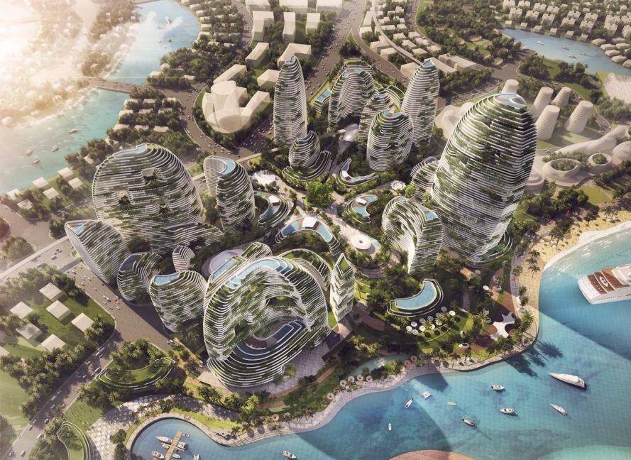 شهری شبیه به یک جنگل بارانی در مالزی