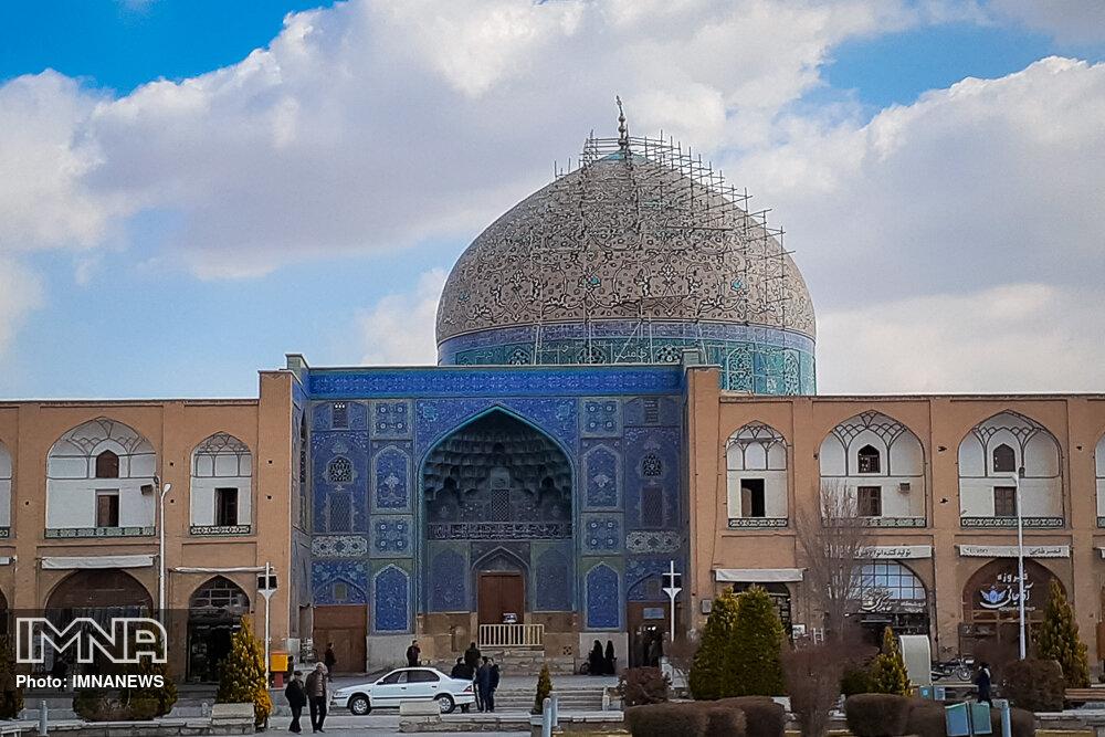 جزئیات تازه از مرمت ترک دوم گنبد مسجد شیخ لطفالله