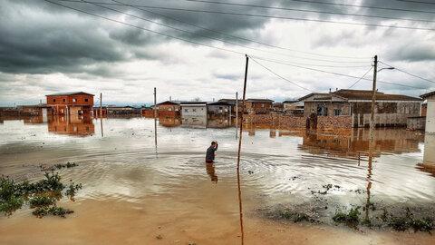 خسارت سیل به تاسیسات شهری کوزهکنان