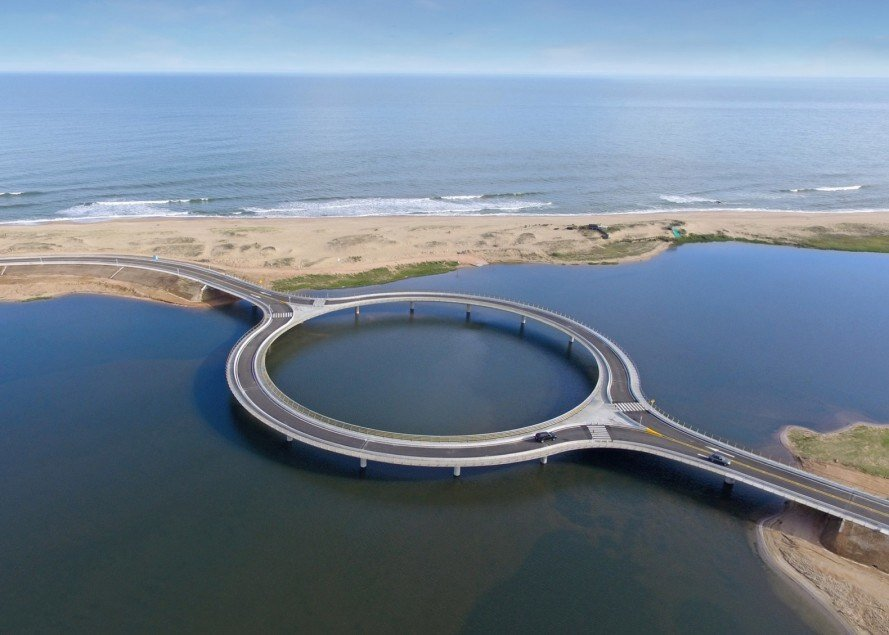 معماری های عجیب دنیا/ پل دایرهای اروگوئه