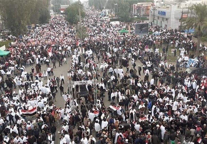 آغاز تظاهرات ضد امریکایی عراقیها