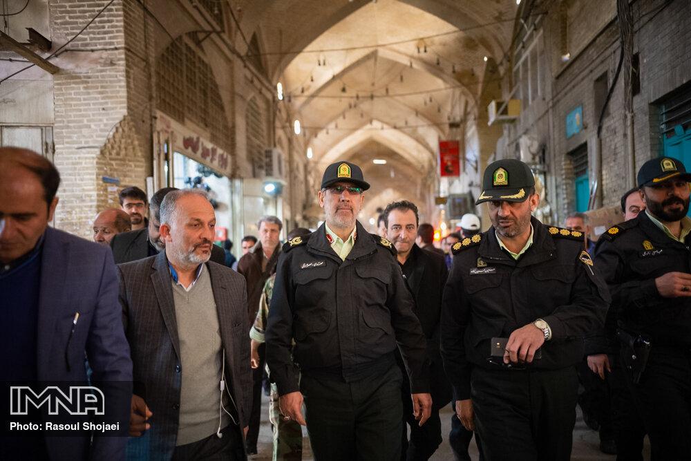 احساس امنیت در بازار بزرگ اصفهان ارتقا مییابد