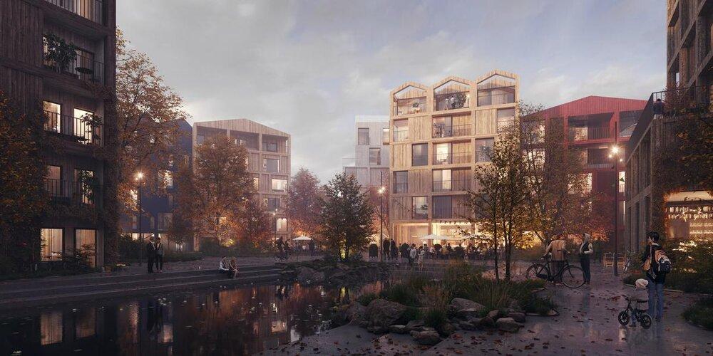 کپنهاگ میزبان منطقه اجتماعی مدرن با معماری روستایی