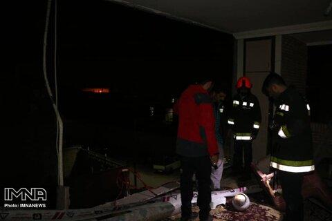 انفجار منزل مسکونی در خیابان بهشت اصفهان+ عکس