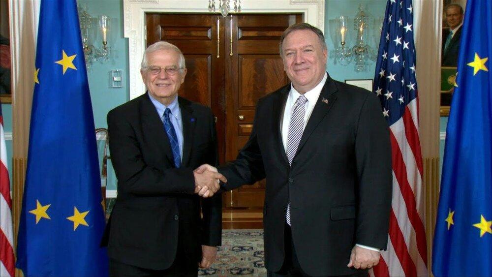 پمپئو و جوزپ بورل درباره ایران رایزنی کردند