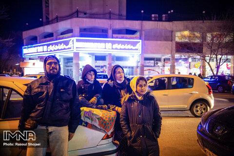 نورافشانی آسمان اصفهان