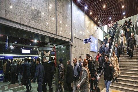 آمار مسافران مترو در تهران ۴۰ درصد افزایش یافت