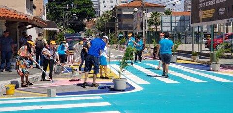 خیابانهای امن با نقاشی روی آسفالت