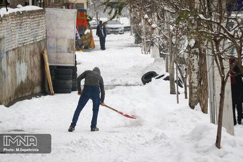 بارش برف در تیریز