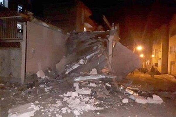 یک باب مغازه تجاری در سنندج تخریب شد
