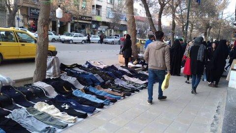 نظارت شهرداری بر فعالیت دستفروشان گرگانی