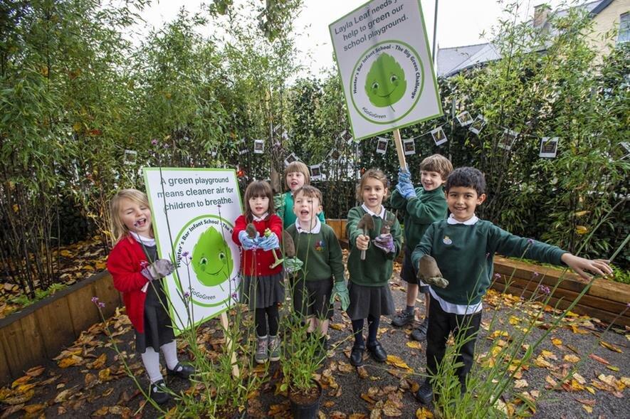 افزایش فضاهای سبز مدارس در لندن