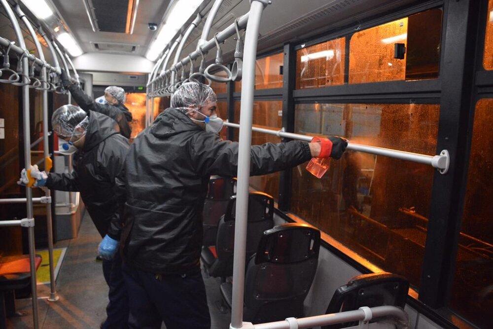اتوبوسهای قزوین و گرگان ضدعفونی میشود