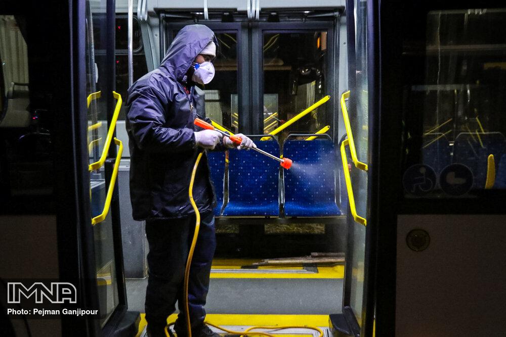 ضدعفونی ۳۴۲ اتوبوس شهری در ارومیه