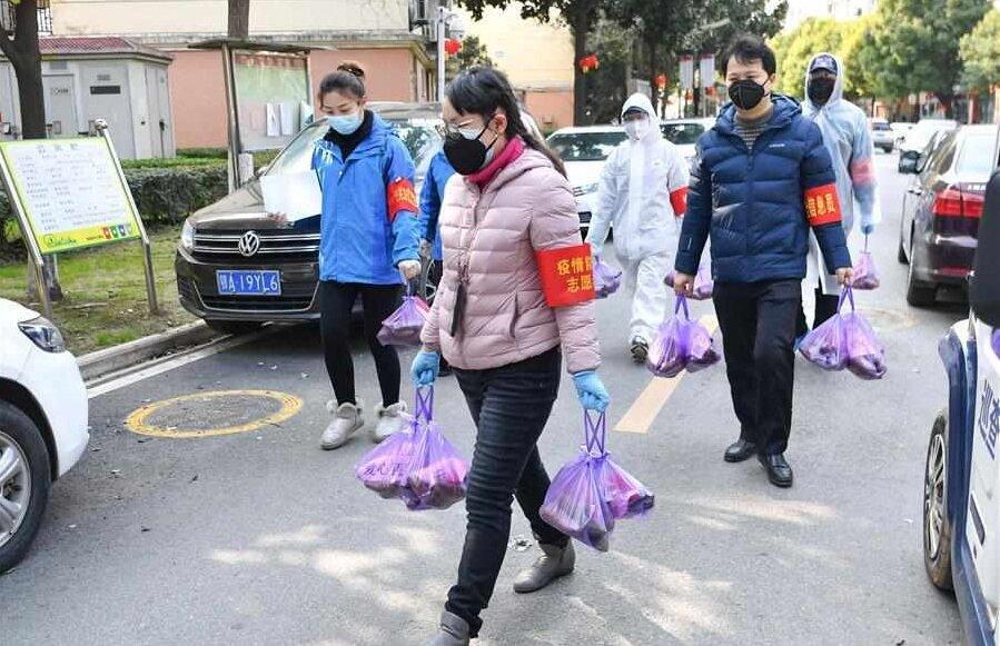 افزایش کمکهای داوطلبانه در ووهان چین