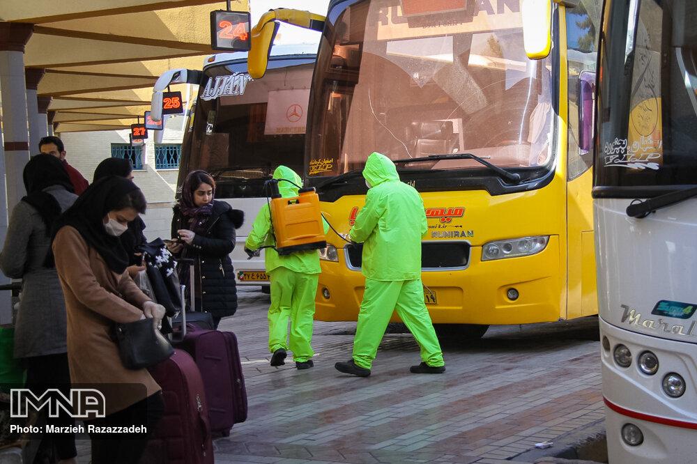 برخورد جدی پلیس با اتوبوسهای متخلف در مسافرگیری