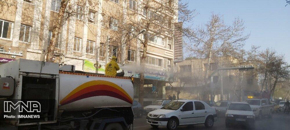 ضدعفونی معابر شهر اصفهان با ۲۵ اکیپ ویژه