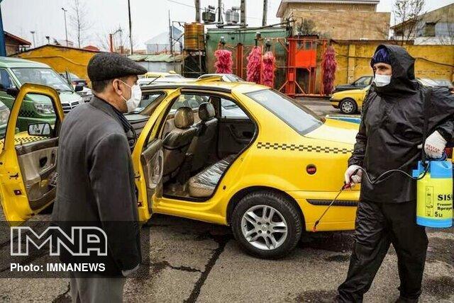 ضدعفونی تاکسیهای تربتحیدریه