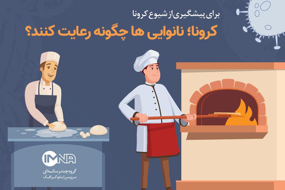 کرونا؛ نانوایی ها چگونه رعایت کنند؟