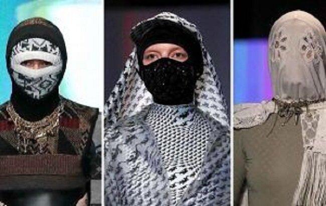 ماسک مقابله با کرونا روی صورت مدلها در هفته مد پاریس