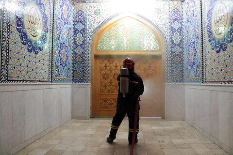 ضدعفونی مساجد مناطق حاشیه ای شهر مشهد