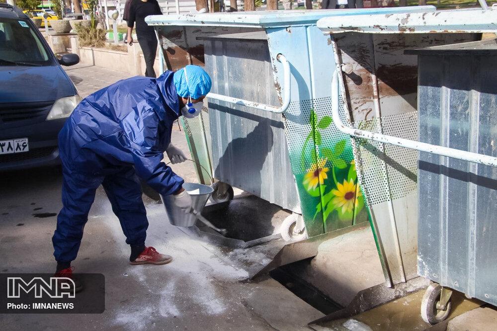 تداوم اقدامات مقابله با کرونا در شهر سمنان