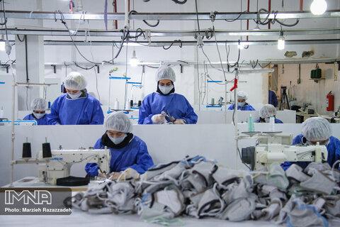 فعالیت ۳ برابری تعاونیها برای تولید ماسک و مواد ضدعفونی