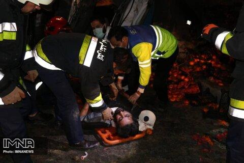 مرگ سرنشین بی ام دبلیو به دنبال تصادف خیابان هزار جریب