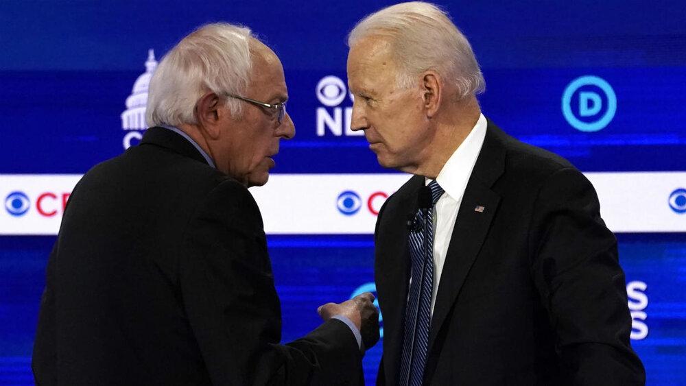 برگزاری اولین مناظره انتخاباتی سندرز و بایدن در سایه کرونا