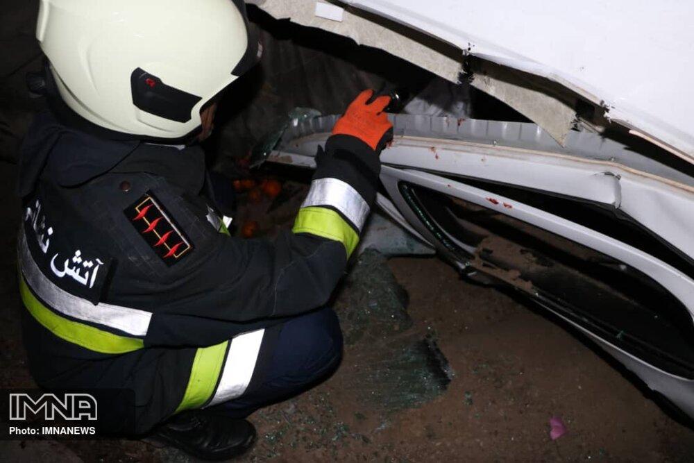 اولین تصادف در آزادراه تهران - شمال