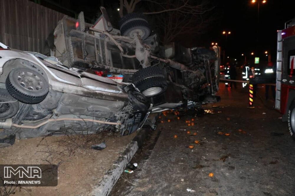 مهمترین حوادث جادهای ۲۴ ساعته گذشته اصفهان