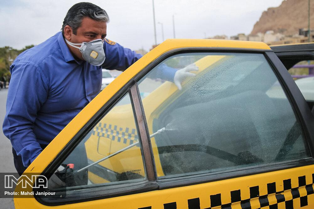 تشدید نظارت بر رعایت پروتکل های بهداشتی در تاکسیهای درونشهری