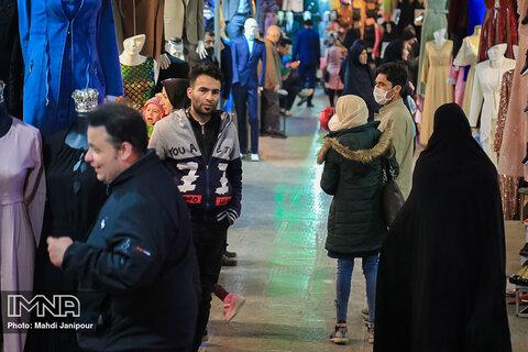 بی تفاوتی نسبت به بحران کرونا در بازار اصفهان