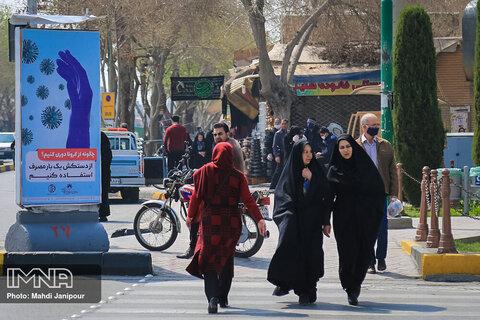 شلوغی خیابان های اصفهان در بحران کرونا