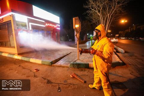 انجام بیش از ۳۰ مرحله ضدعفونی شهر ساری