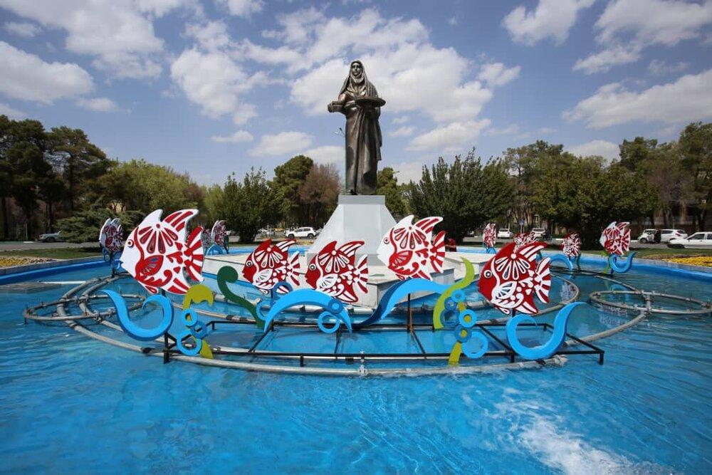 نصب ۲۳ المان صنایع دستی در سطح شهر اصفهان