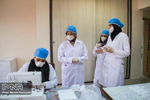 تولید ماسک توسط نیروهای داوطلب