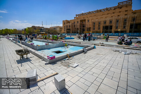 تکمیل بخش شرقی میدان امام حسین (ع) تا ابتدای هفته جاری
