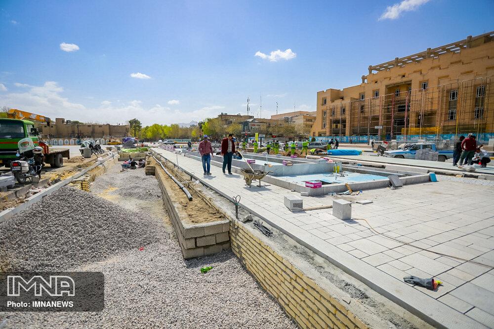 ساماندهی میدان امام حسین(ع) با اعتباری بالغ بر ۴۲ میلیارد ریال