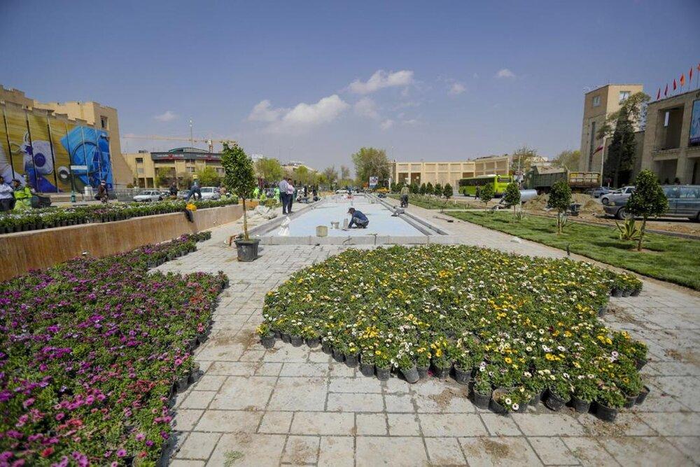 انجام سنگفرش میدان امام حسین(ع) با اعتبار ۱۳ میلیارد ریال
