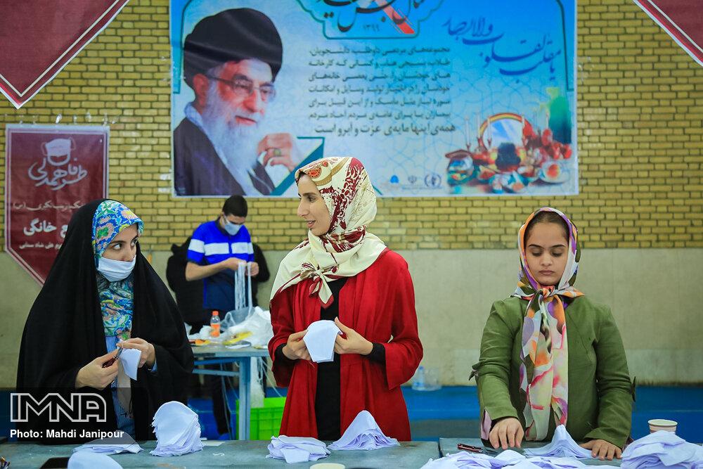 تولید ماسک توسط سمن های جوانان استان اصفهان