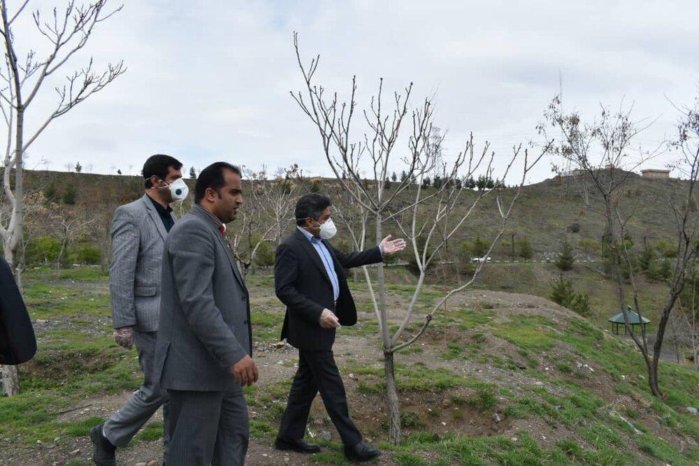 استقرار نیروهای انتظامی در بوستانهای مشهد همزمان با روز طبیعت