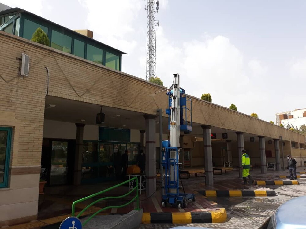 آجر سابی و گندزدایی پایانههای مسافربری اصفهان