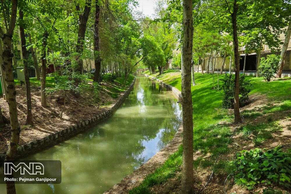 احیای نهر هزار ساله توسط شهرداری خمینیشهر