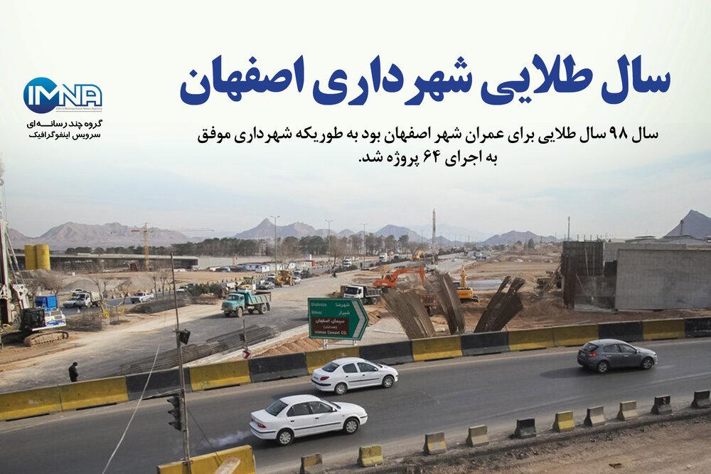 اینفوگرافیک/ سال طلایی شهرداری اصفهان