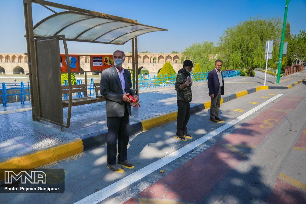اجرای طرح فاصله گذاری اجتماعی هوشمند در ناوگان اتوبوسرانی