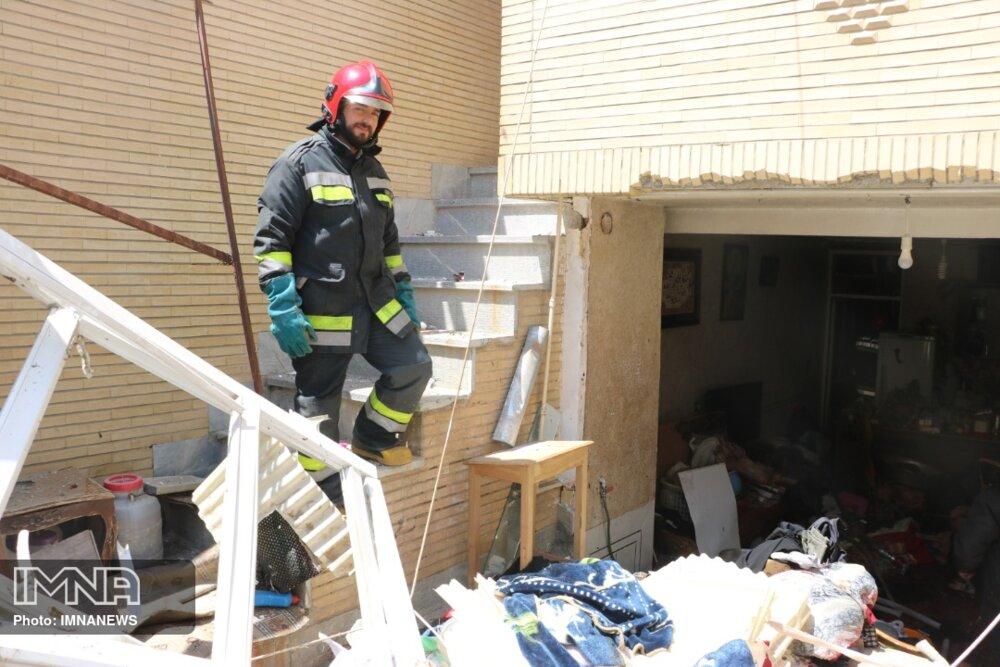 انفجار منزل مسکونی ویلایی در اصفهان